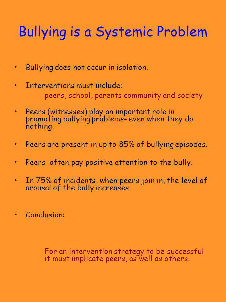 Bullying is a Systemic Problem