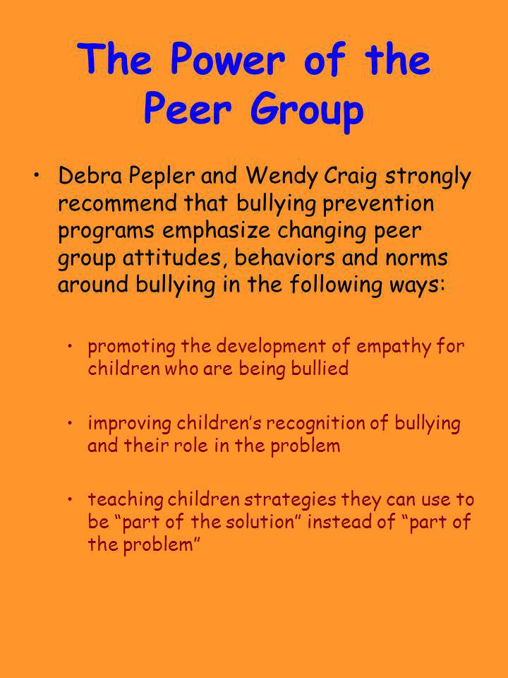 The Power of the Peer Group