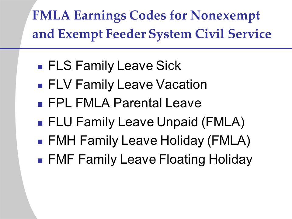 FLV Family Leave Vacation FPL FMLA Parental Leave