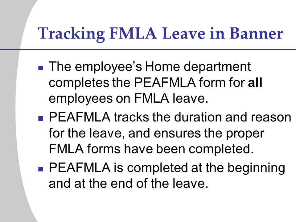 Tracking FMLA Leave in Banner