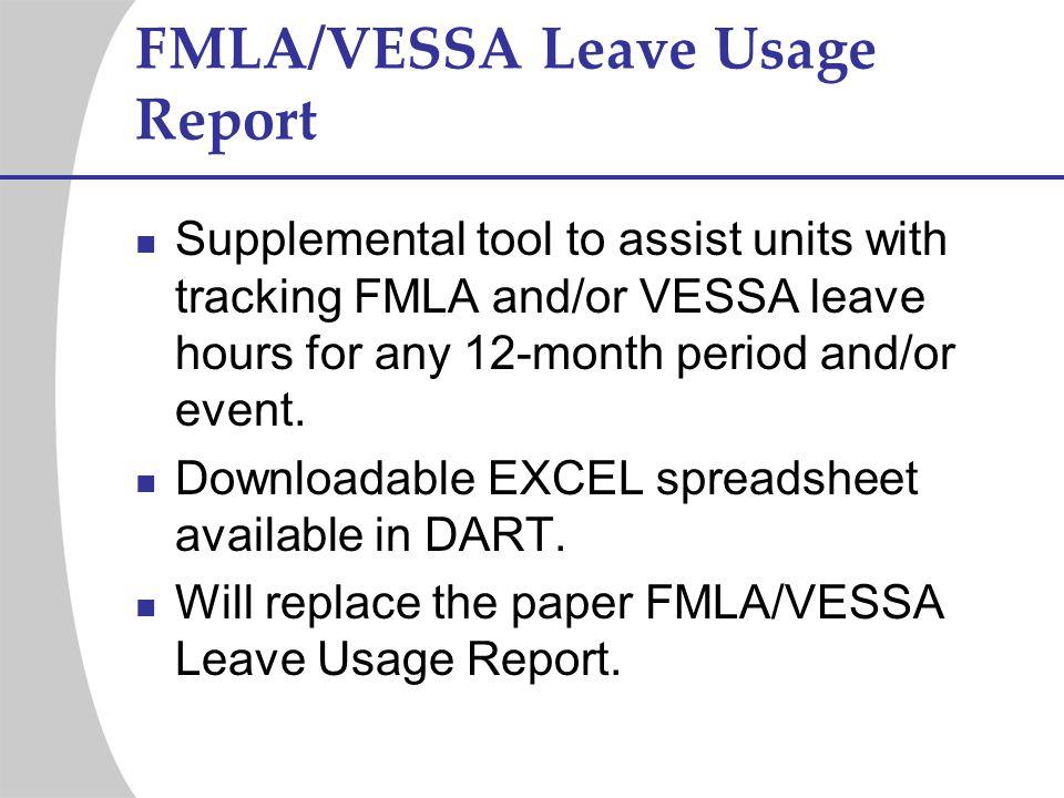 FMLA/VESSA Leave Usage Report