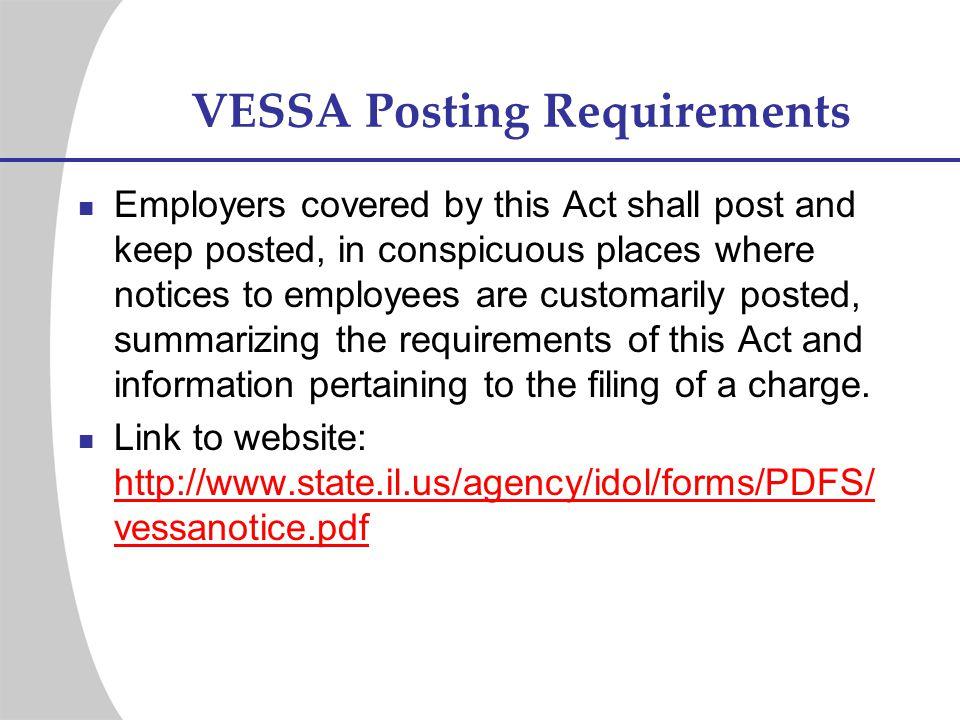 VESSA Posting Requirements