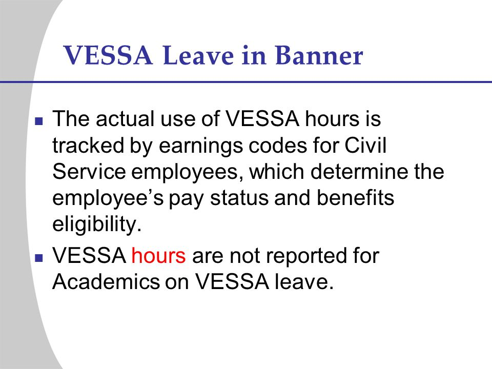 VESSA Leave in Banner