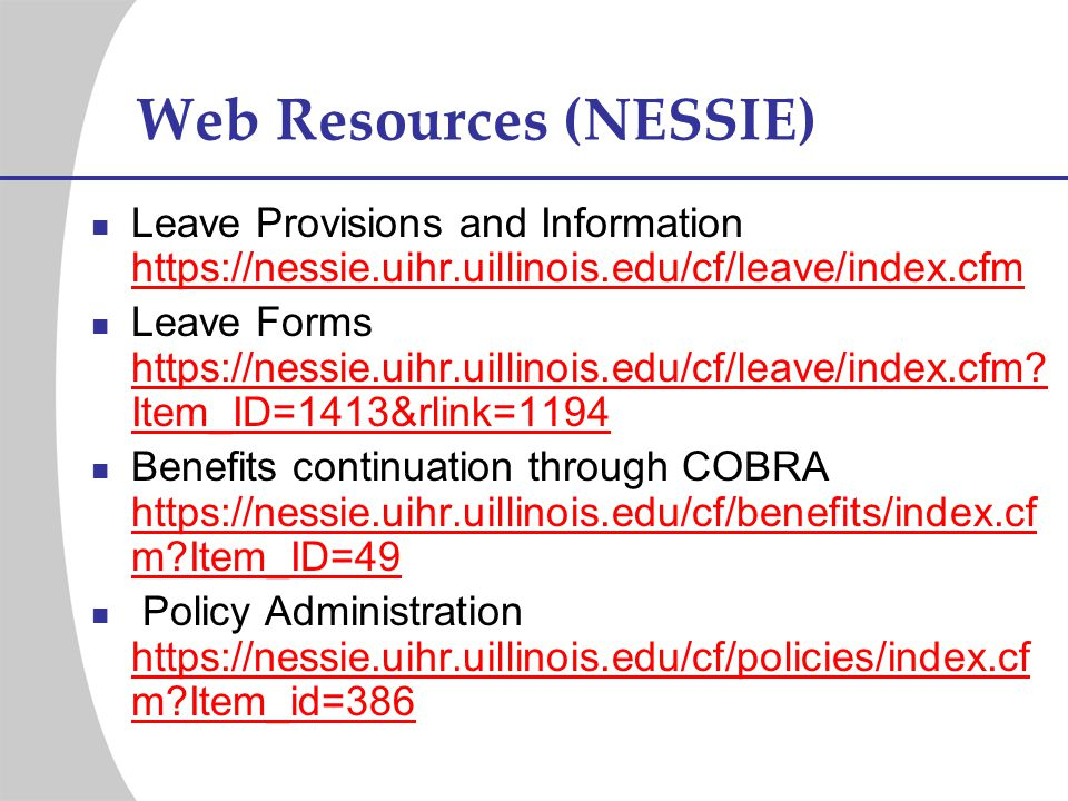 Web Resources (NESSIE)