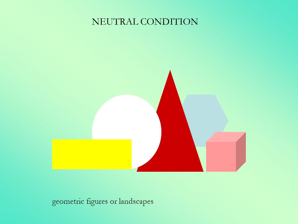 NEUTRAL CONDITION geometric figures or landscapes