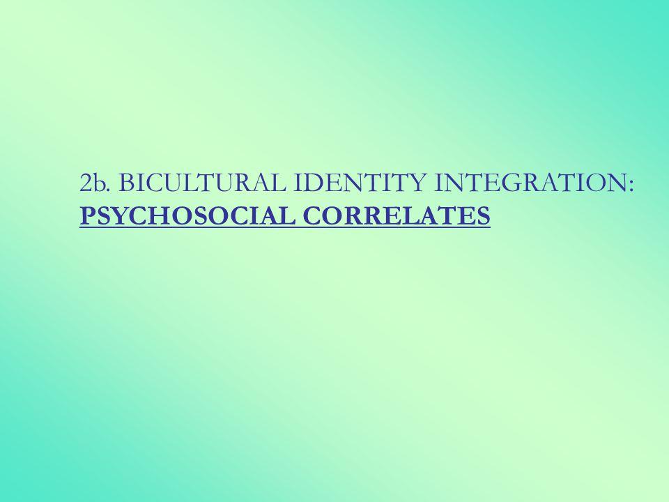 2b. BICULTURAL IDENTITY INTEGRATION: