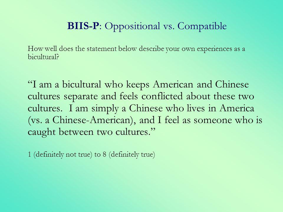 BIIS-P: Oppositional vs. Compatible