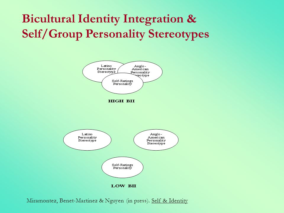 Bicultural Identity Integration & Self/Group Personality Stereotypes