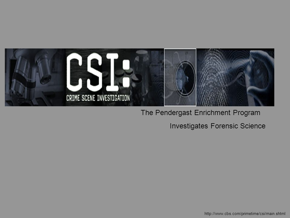 The Pendergast Enrichment Program Investigates Forensic Science