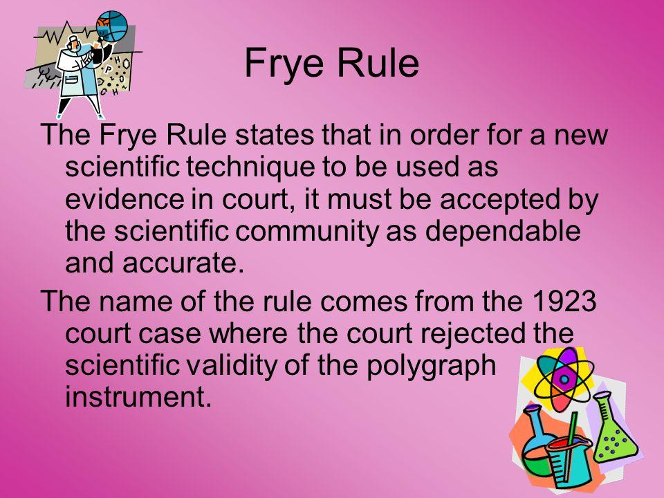 Frye Rule