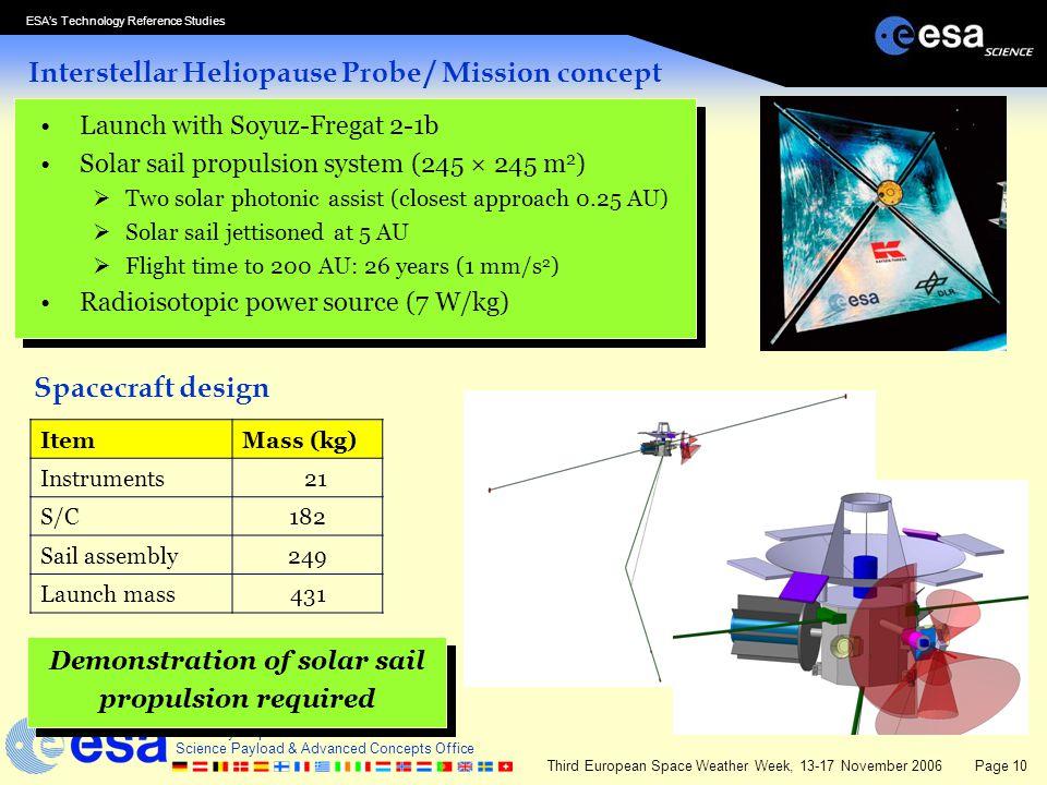 Interstellar Heliopause Probe / Mission concept
