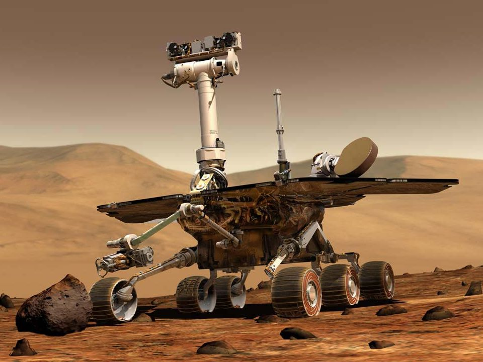 This is a picture of the vehicle that was used in 2007 to explore the surface of Mars. Some of you may have seen this before.