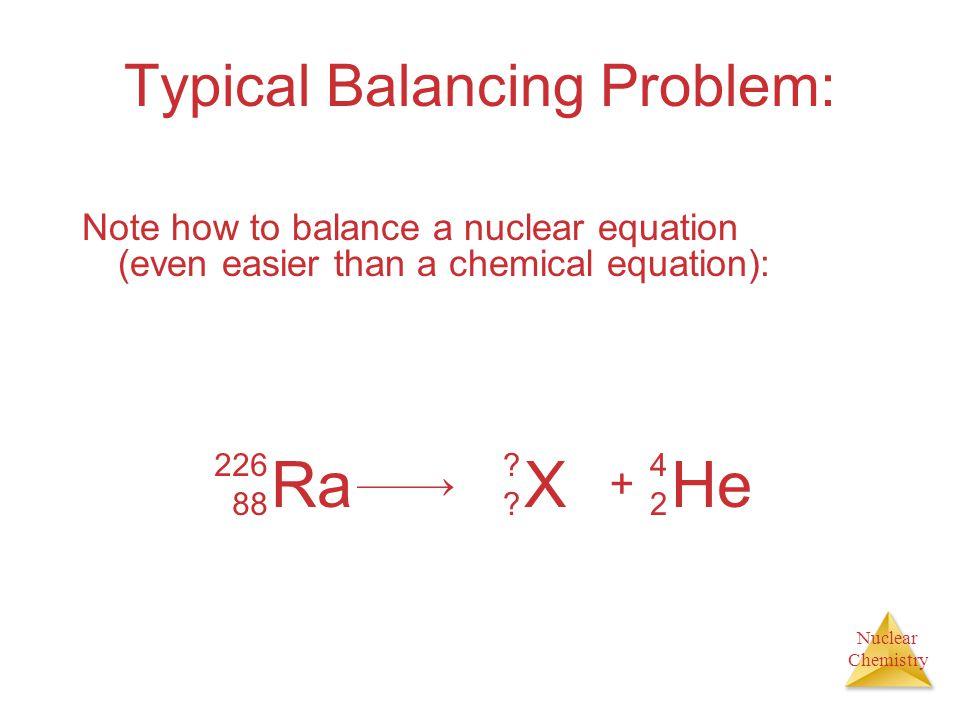 Typical Balancing Problem: