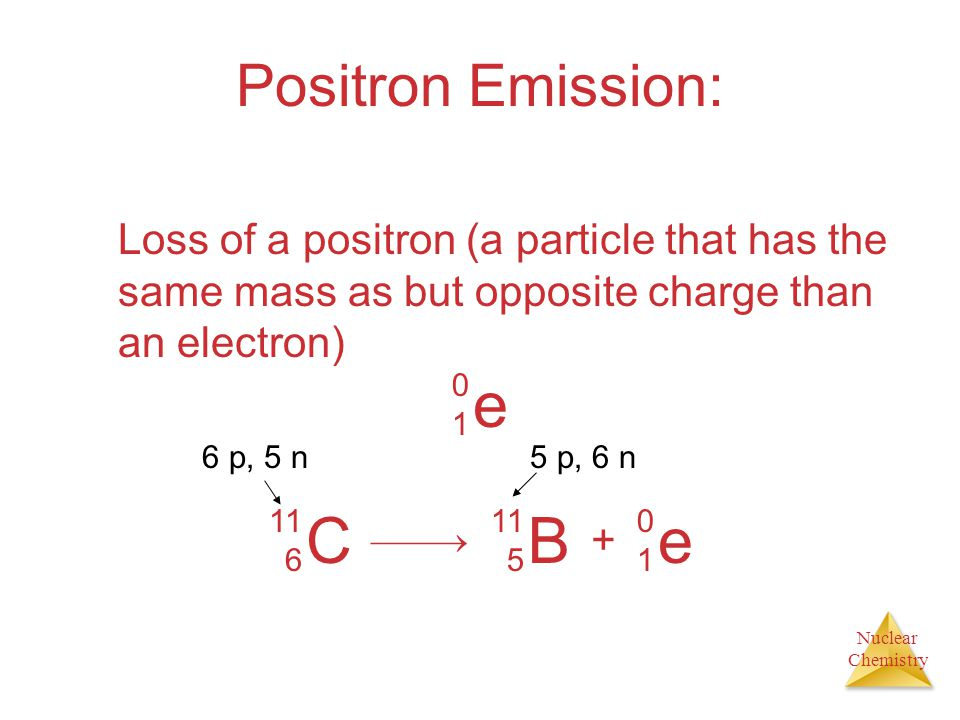 e C B e Positron Emission: