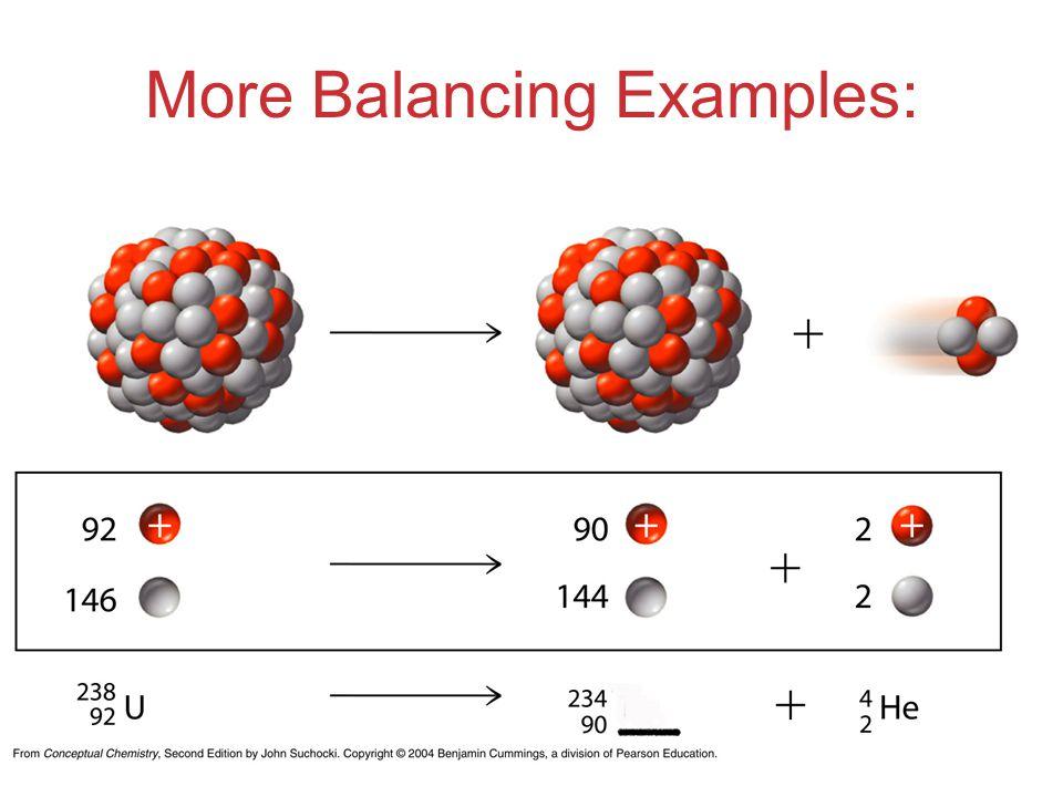 More Balancing Examples: