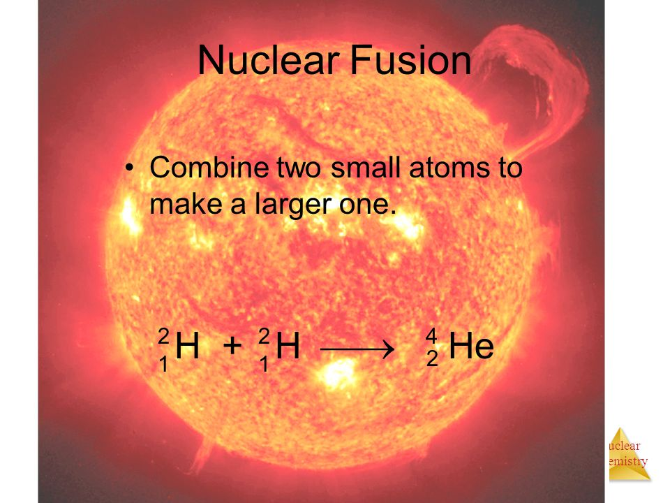 Nuclear Fusion H + H  He