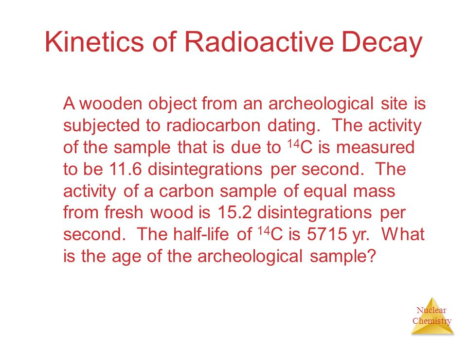 Kinetics of Radioactive Decay