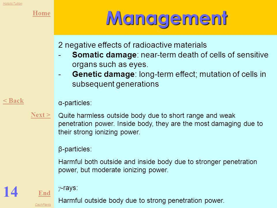 Management 14 2 negative effects of radioactive materials