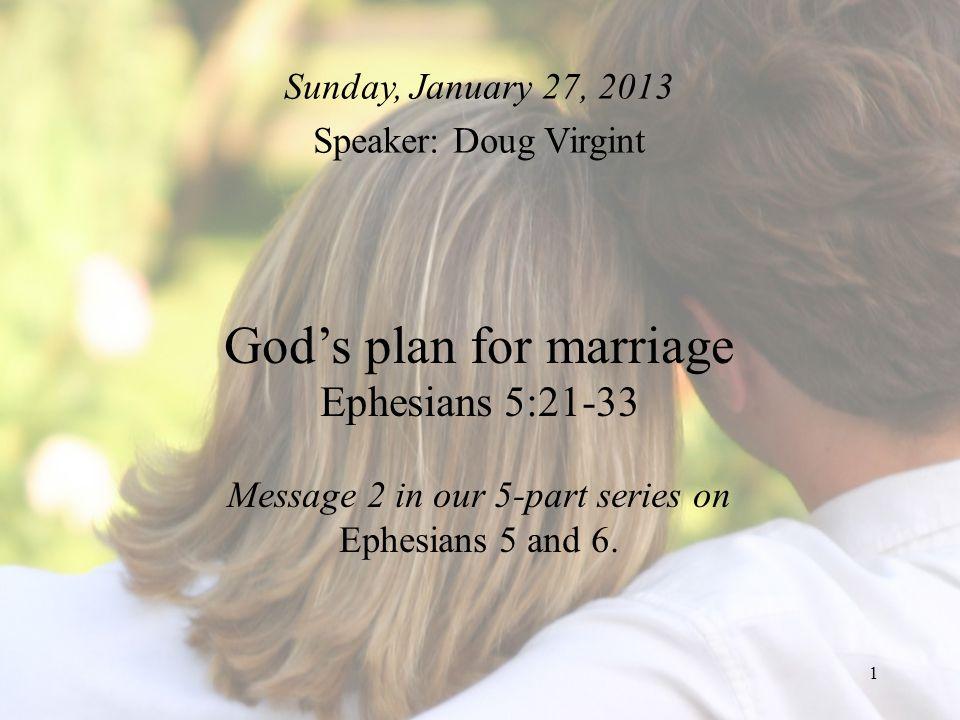 Sunday, January 27, 2013 Speaker: Doug Virgint.