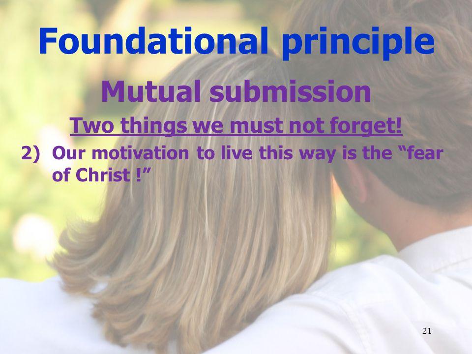 Foundational principle