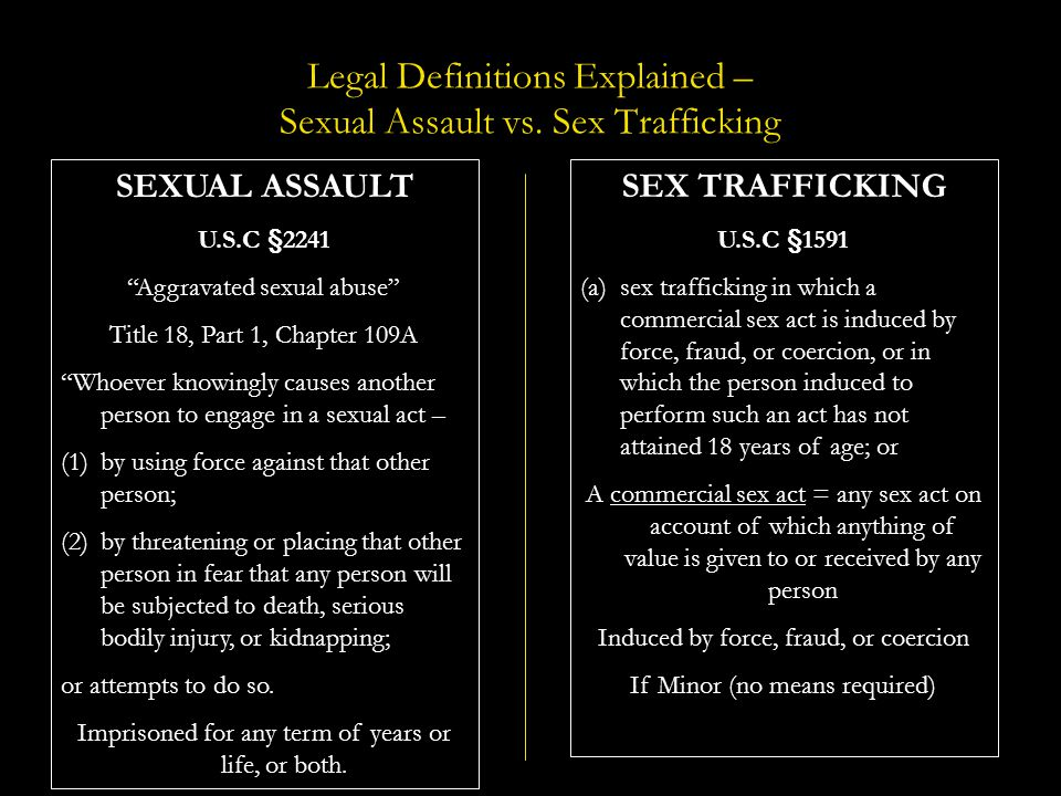 Legal Definitions Explained – Sexual Assault vs. Sex Trafficking