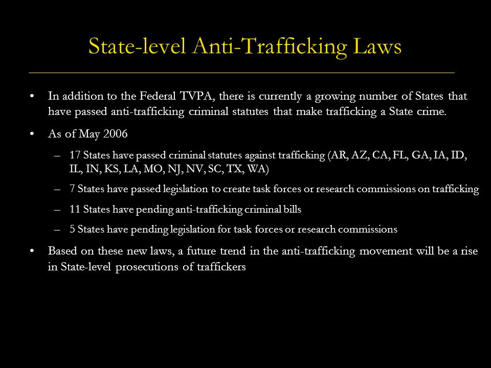 State-level Anti-Trafficking Laws