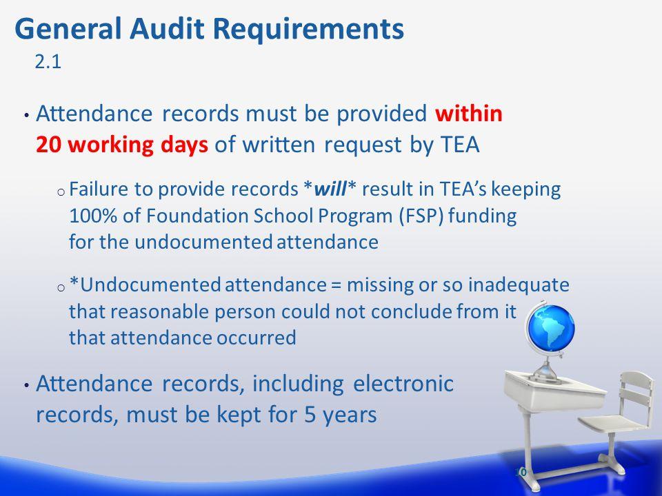 General Audit Requirements