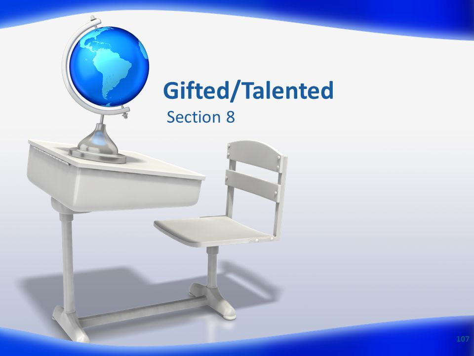 Gifted/Talented Section 8