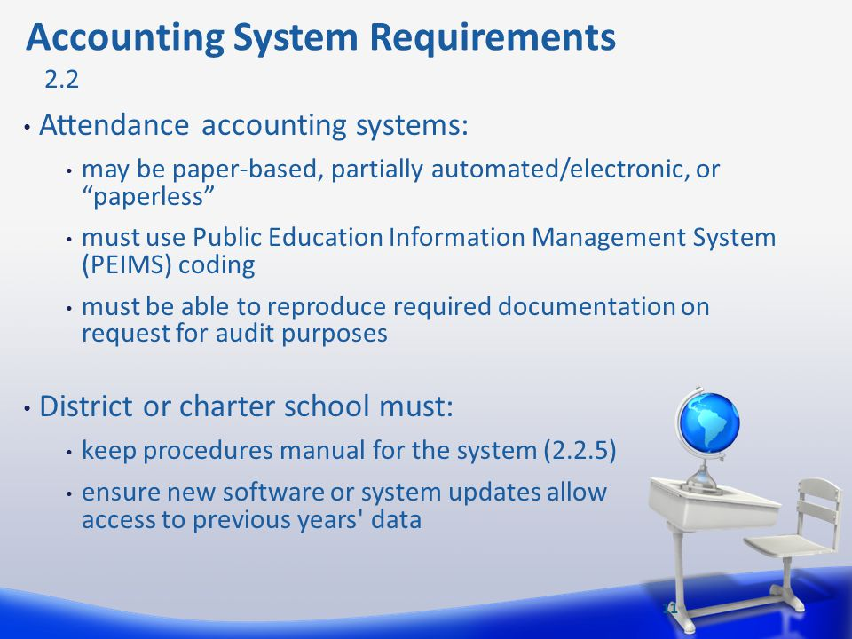 Accounting System Requirements