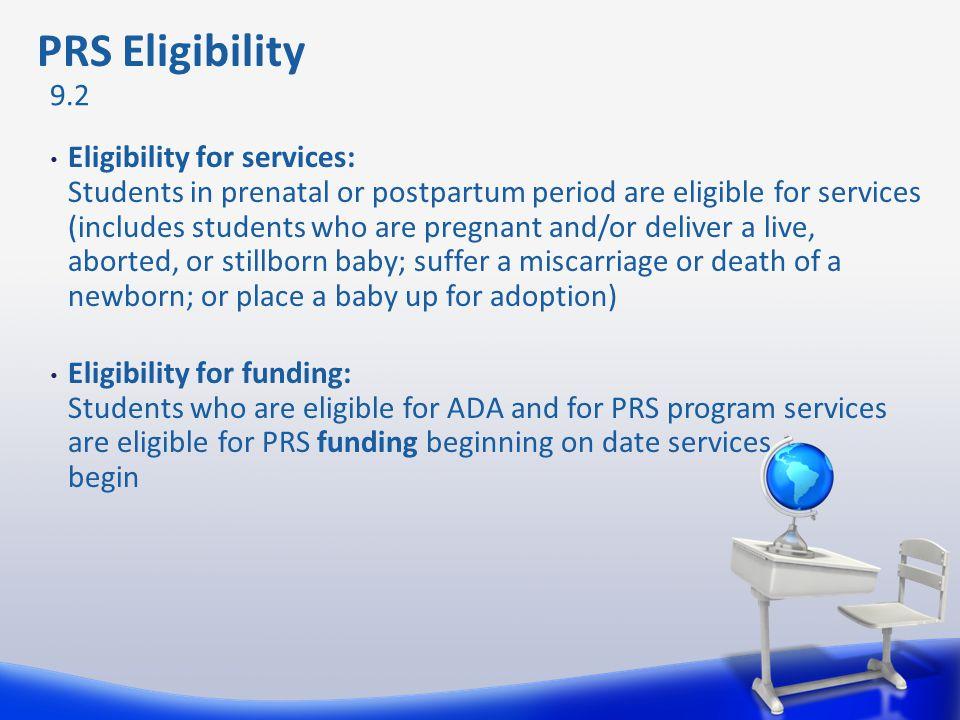 PRS Eligibility 9.2.