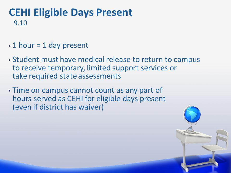 CEHI Eligible Days Present
