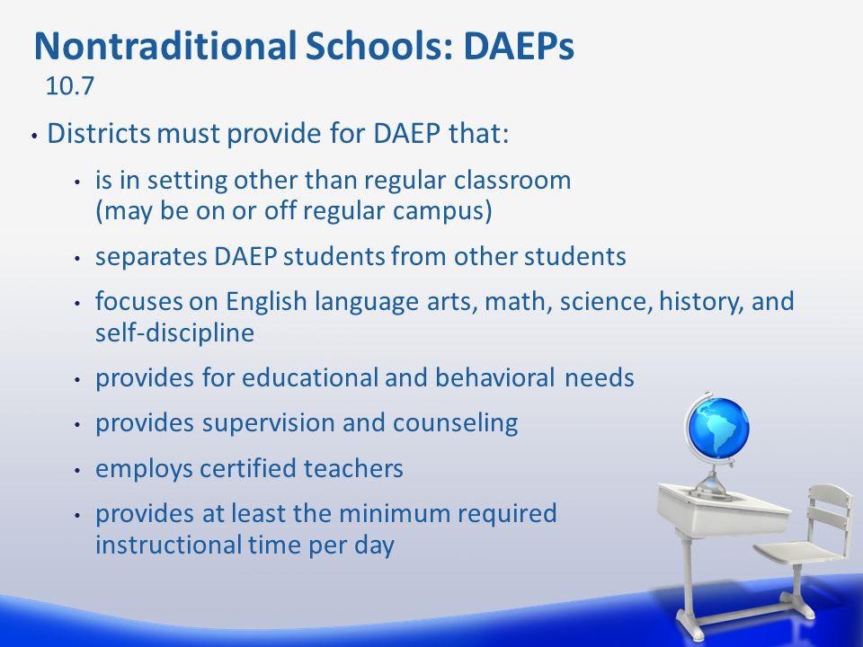 Nontraditional Schools: DAEPs