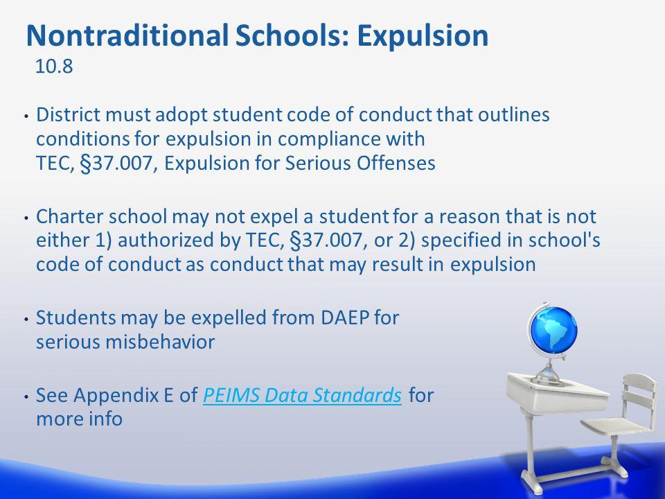 Nontraditional Schools: Expulsion