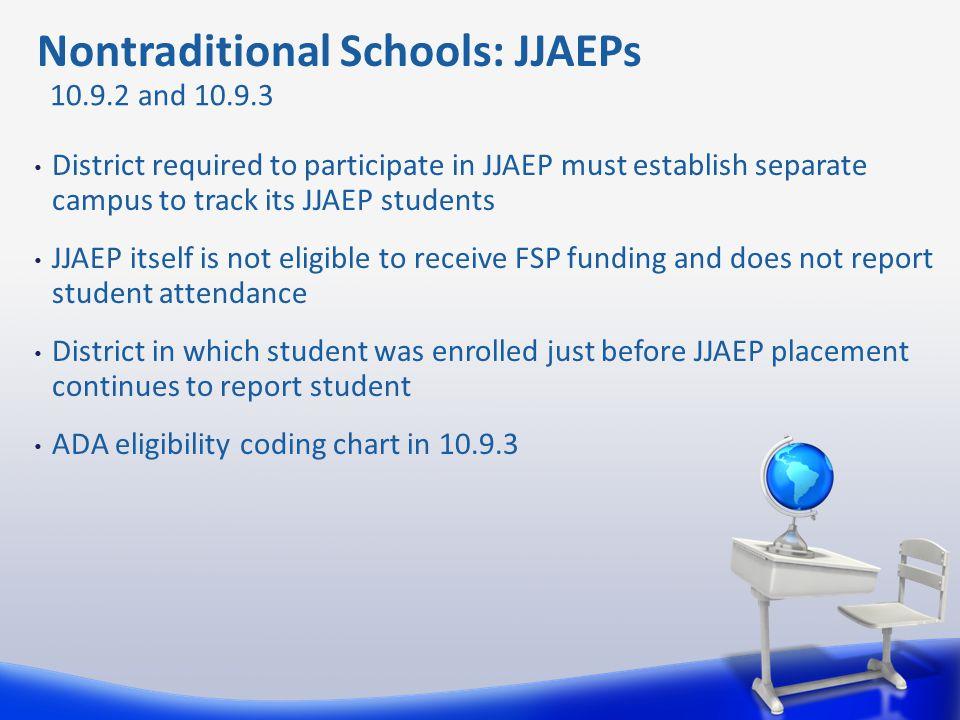 Nontraditional Schools: JJAEPs