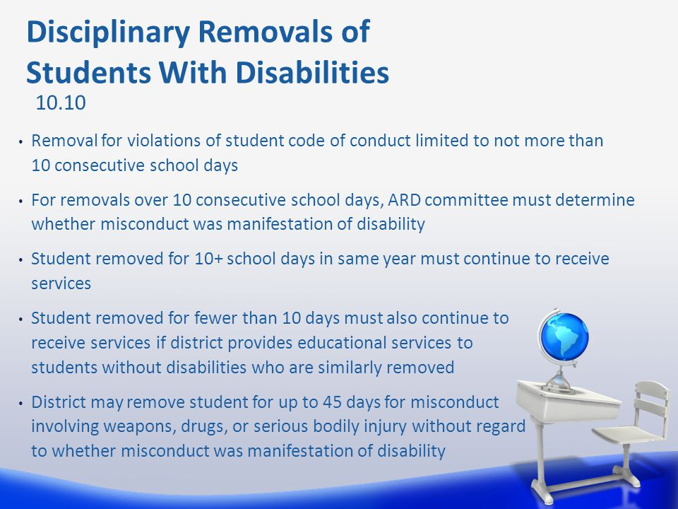 Disciplinary Removals of Students With Disabilities