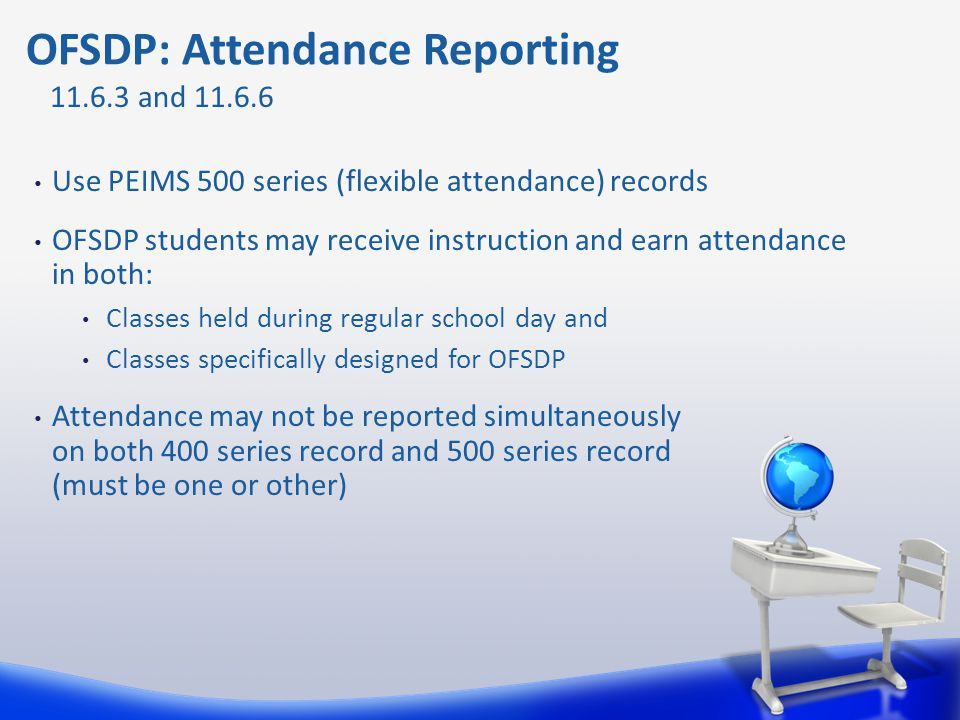 OFSDP: Attendance Reporting
