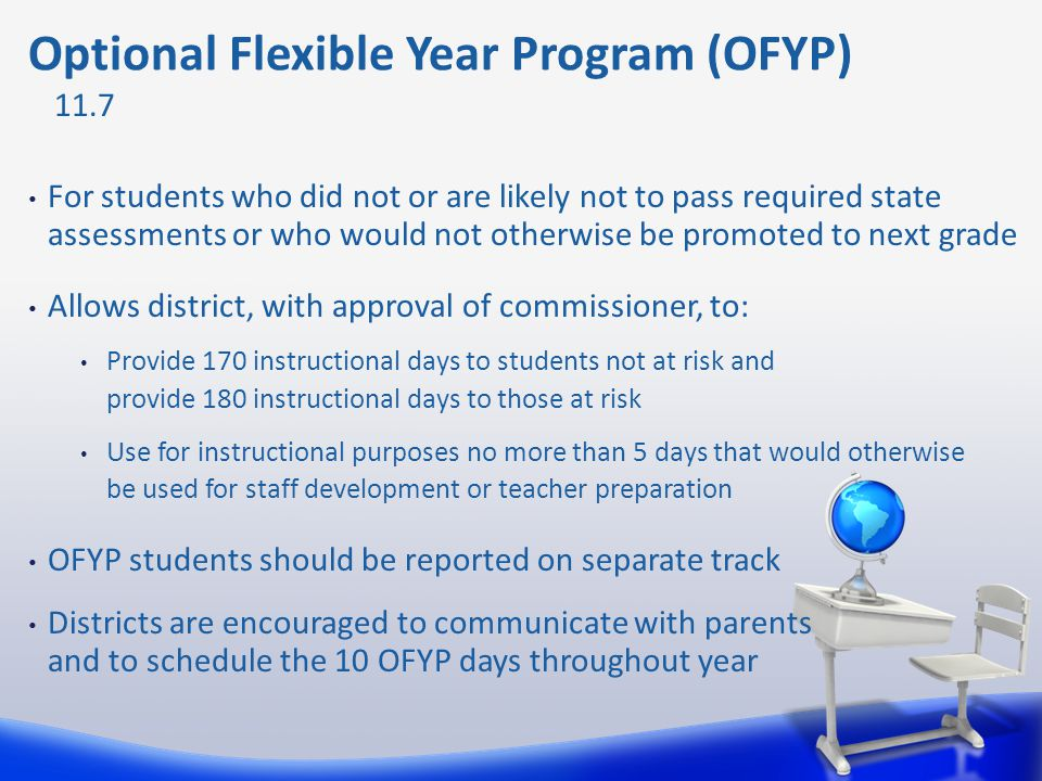 Optional Flexible Year Program (OFYP)