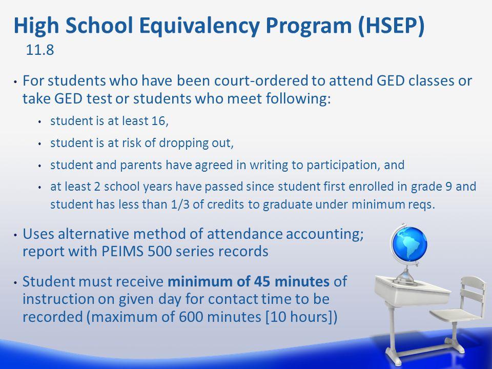 High School Equivalency Program (HSEP)