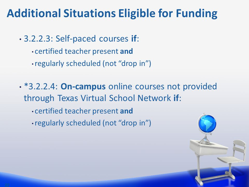 Additional Situations Eligible for Funding