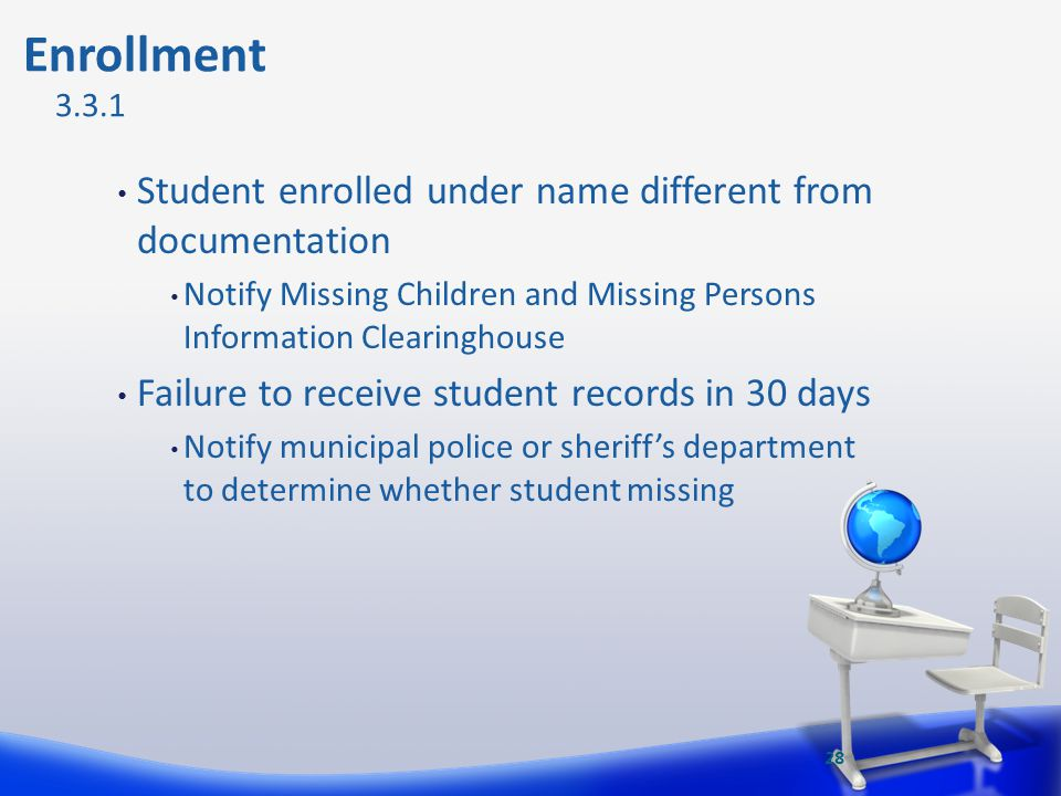 Enrollment Student enrolled under name different from documentation