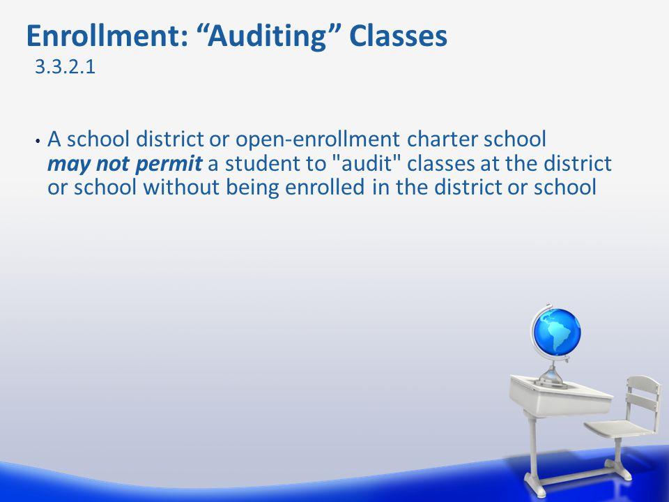 Enrollment: Auditing Classes