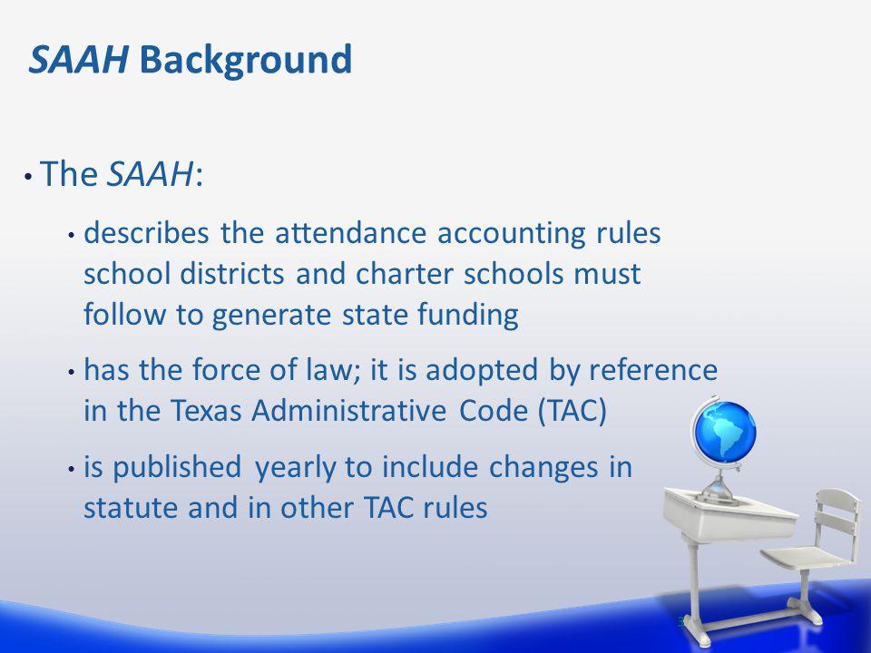 SAAH Background The SAAH: