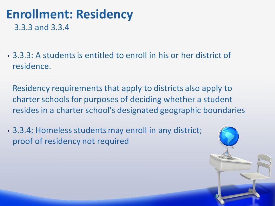 Enrollment: Residency
