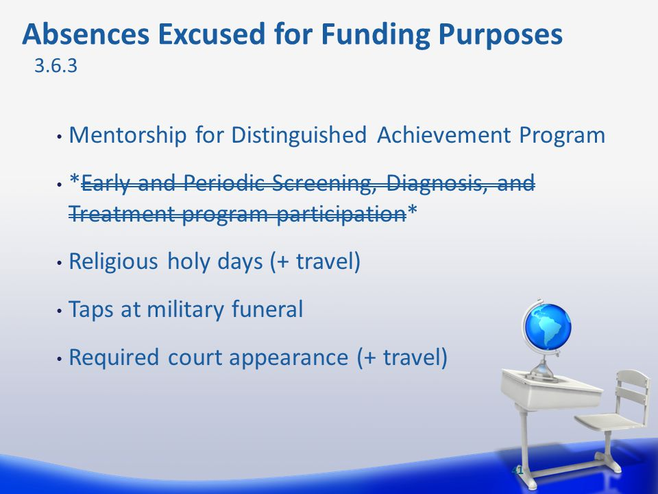 Absences Excused for Funding Purposes