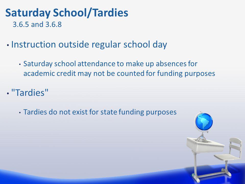 Saturday School/Tardies