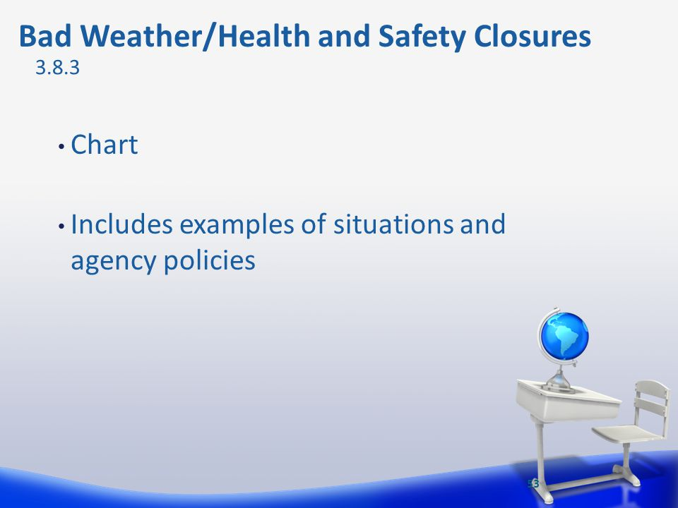 Bad Weather/Health and Safety Closures