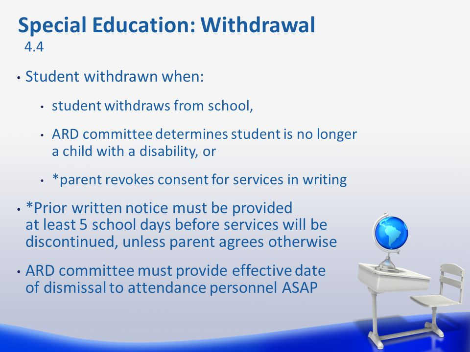 Special Education: Withdrawal