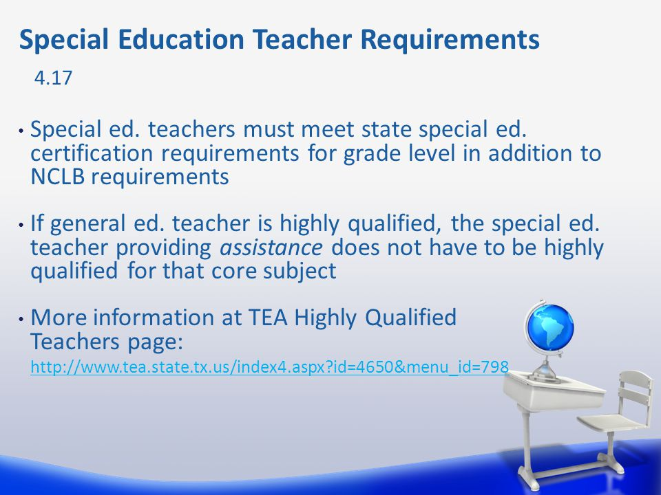 Special Education Teacher Requirements