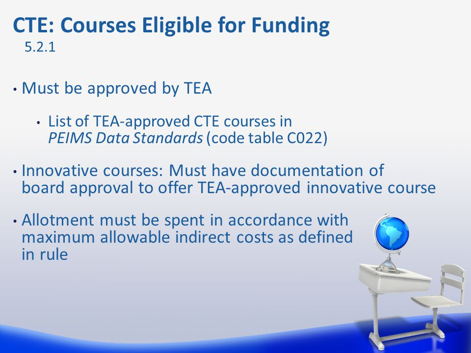 CTE: Courses Eligible for Funding
