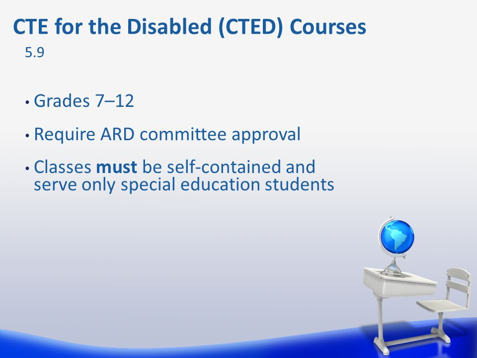 CTE for the Disabled (CTED) Courses